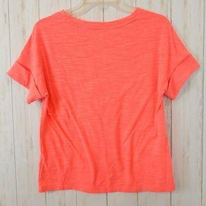 GAP Fit Tee Shirt Coral XS